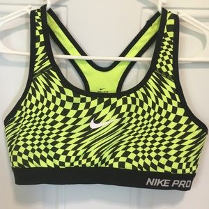 Nike Pro Neon and Black sports bra